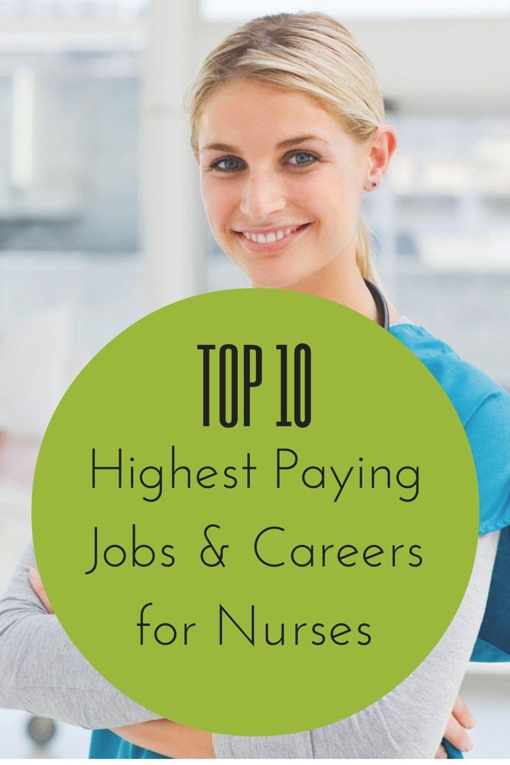 TOP 10 HIGHEST PAYING NURSING JOBS #Nurse #Jobs