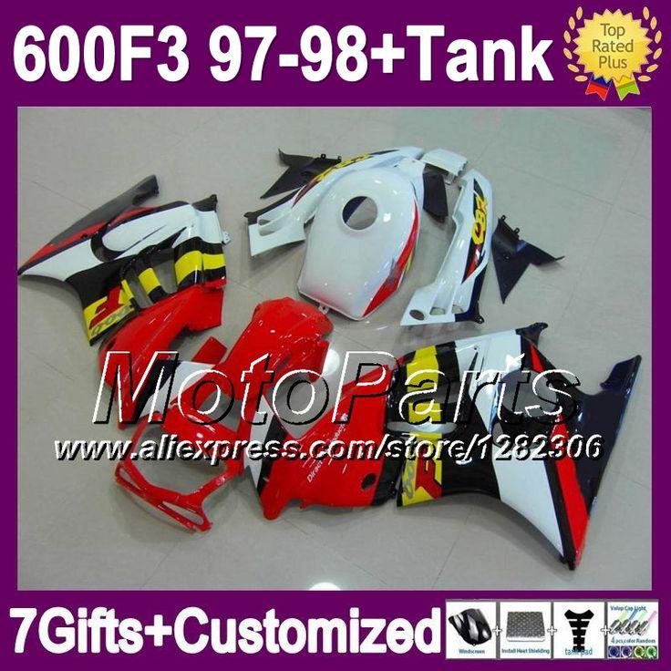 + майка для 97 - 98 HONDA CBR 600F3 97 98 CBR600 F3 красный белый черный желтый цб рф 600 F3 * 1827 1997 1998 CBR600F3 зализа и 7 подарки