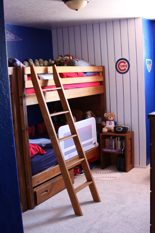 We Are HUGE Cubs Fans So I Gave Our Boys The Baseball Room