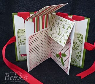 #papercraft #scrapbook #minialbum. Using envelopes folded in half with the flaps cut in half to make a pocket minibook. Cute idea.