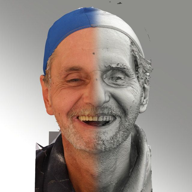 3D Head Scan Of Smiling Emotion   Richard High-resolution photogrammetry
