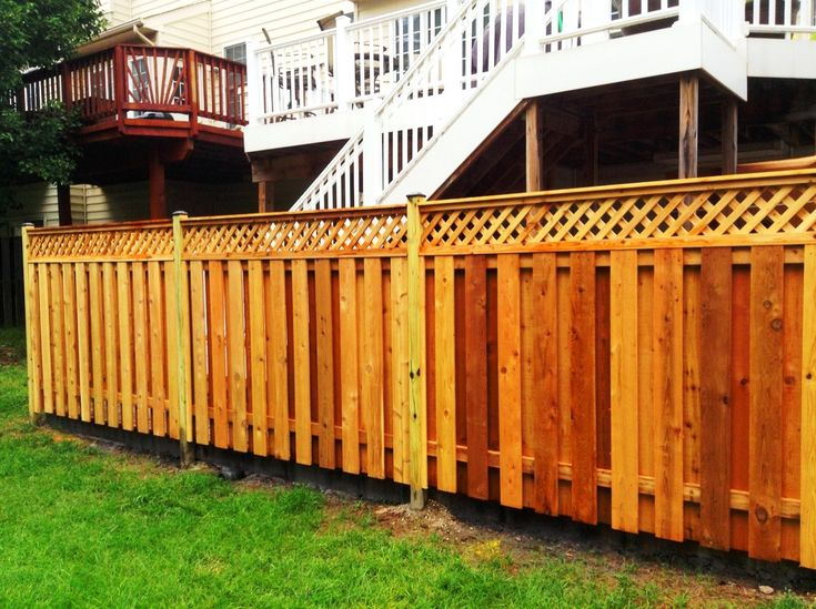 Wood Privacy Fence. 6ft Privacy Fence. Large Privacy Fence. Wood Fence  Design Ideas Beautiful Privacy Fence Ideas Privacy Fence With Lattice  Topper Garden ...