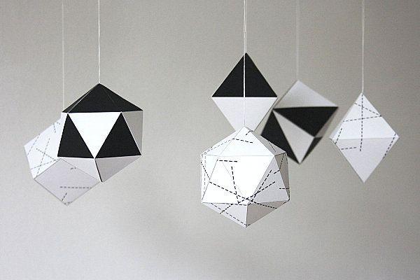 Christmas, Catalog Christmas Decorations 2012 Trends : Geometric Paper Christmas Decorations 2012 Trends Ornaments