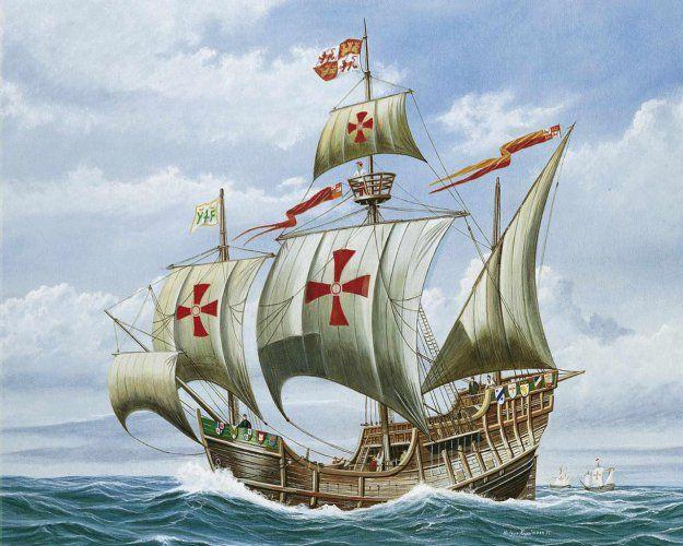 Santa María, Святая Мария) — один из самых известных кораблей мира, о котором, тем не менее, неизвестно практически ничего, один из трех кораблей Христофора Колумба, на которых была открыта Америка в 1492 году.  Христофор Колумб  Христофор Колумб  Вокруг этого парусника больше догадок и легенд, чем достоверных фактов. Не сохранилось ни одного изображения