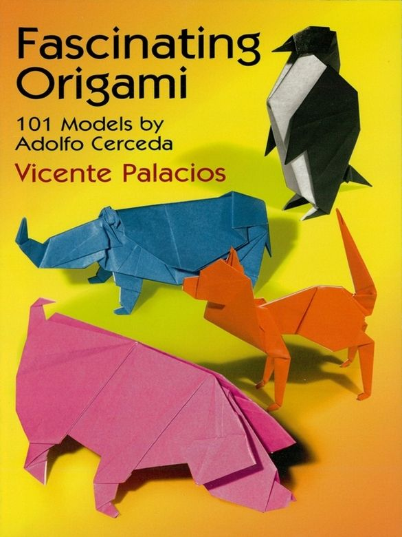 Fascinating Origami by Vicente Palacios  Delightful treasury of unusual and inventive projects created by talented Argentinian magician and gifted origamist. Easy-to-follow instructions, specially designed for newcomers to the art of origami, show how to construct a camel, rooster, jaguar, and butterfly as well as such unusual figures as a bullfighter, magician, and many other intriguing subjects.