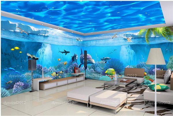 3d Ceiling Wallpaper Murals