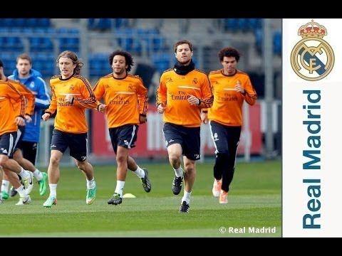 Video Primer entrenamiento del Real Madrid para preparar el partido de Copa frente a Osasuna
