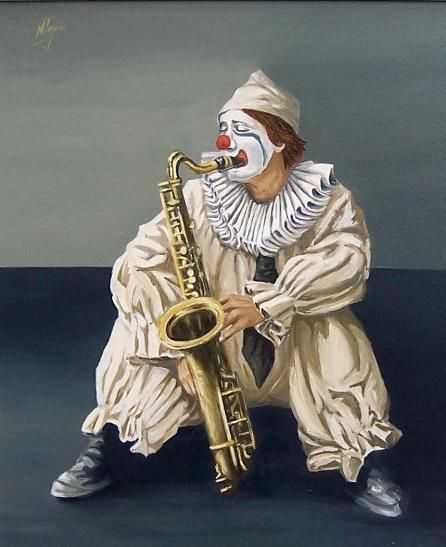 Clown by Natalia Tejera - Clown Painting - Clown Fine Art Prints and Posters for Sale