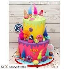 Resultado de imagen de trolls cake decoration
