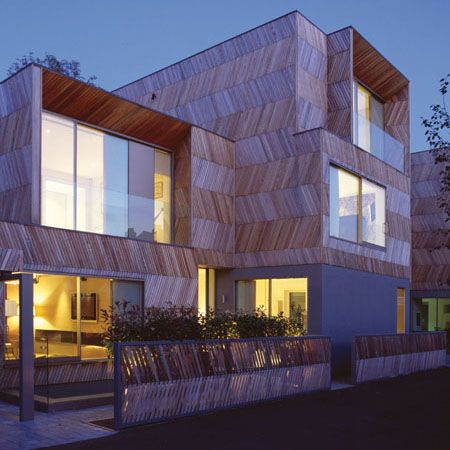 Herringbone Houses in London by Alison Brooks Architects
