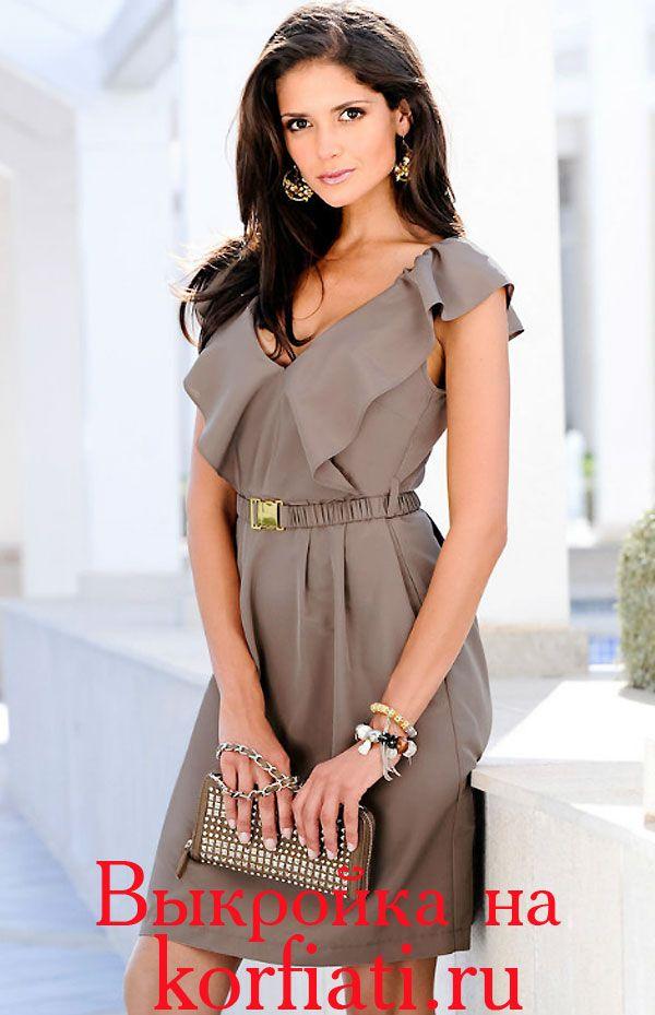 Выкройка простого летнего платья - очень эффектного и невероятно стильного! Это очаровательное летнее платье из шелка очень просто сшить самостоятельно...