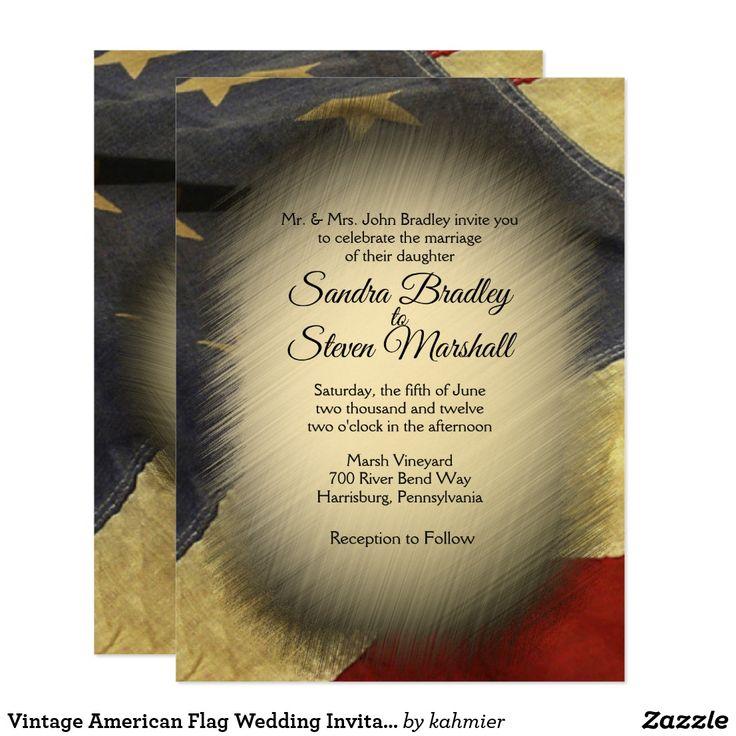 Vintage American Flag Wedding Invitations 412 best