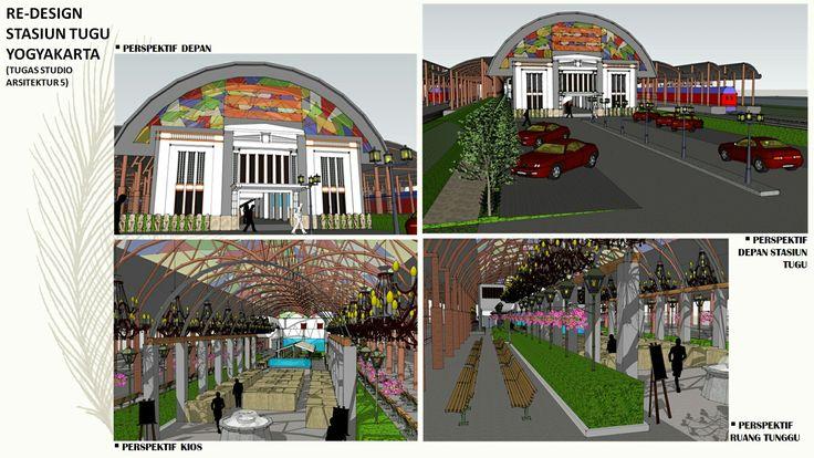 Redesign stasiun Tugu Yogyakarta (Studio Arsitektur 6)  #portfolio #arsitektur #design #architecture