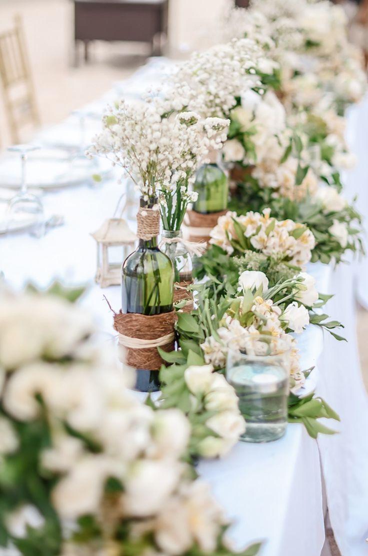 120 best wedding centerpieces images on pinterest a modern rustic beach wedding at shangri las boracay resort spa junglespirit Image collections