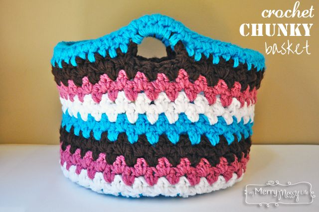 Free Pattern for a Crochet Chunky Basket