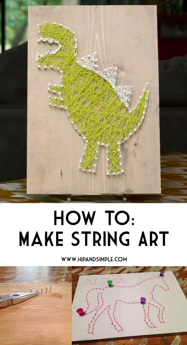 How To Make String Art October 27, 2015 By: Jessikacomment