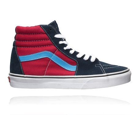 VANS M SK8 HI. Sneakers / skateskor med ovandel i skinn. Herrstorlekar.