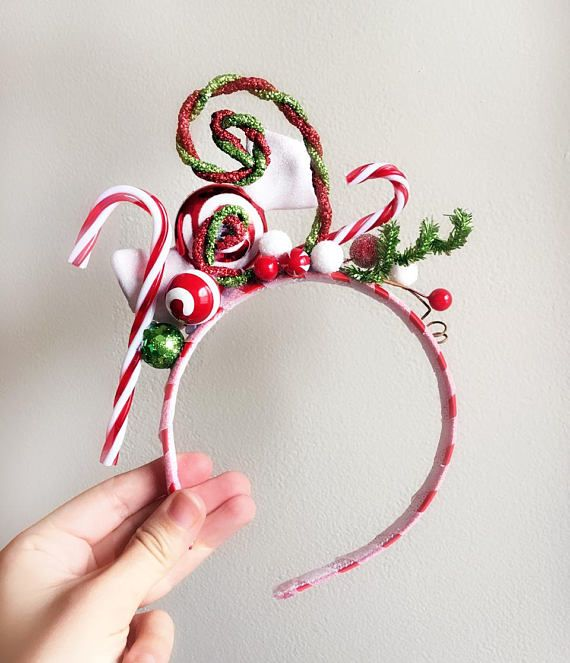 Christmas Headband Craft.Candy Cane Headband Whoville Headband Christmas Headband