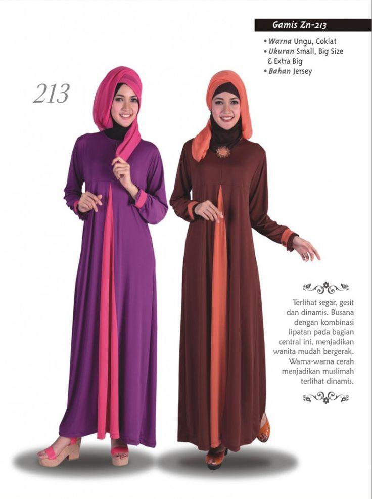 Baju Gamis Zenitha 213 merupakan baju gamis dengan model terbaru yang modern dan trendy