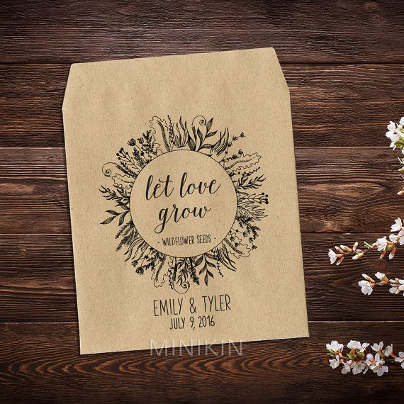 Wedding Seed Favors Personalized Favors Seed by MinikinGifts