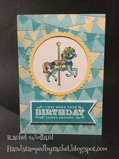 Stampin Up Carousel Birthday / Occasions Catalogue 2017 / Rachel Woollard Australia
