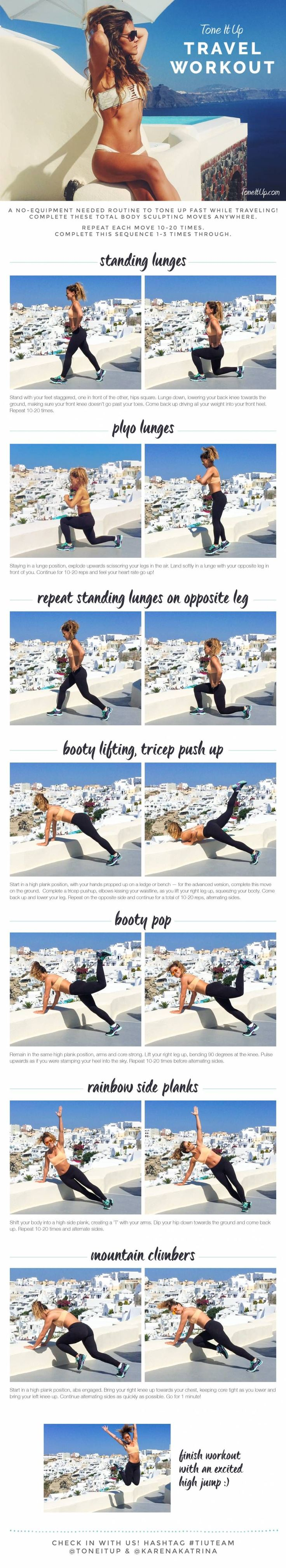Tone It Up Travel Workout to do at home