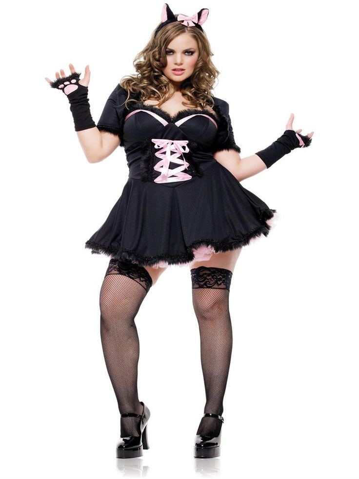 plus size halloween costumes for women leg avenue purrfectly pretty kitty plus size costume available - Cat Outfit For Halloween