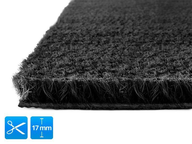 Kokosmat   17 mm   zwart