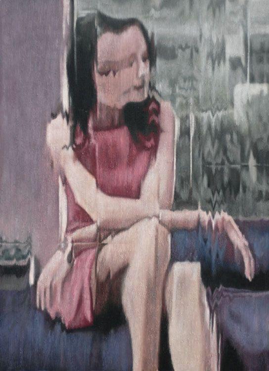 woman (African),2011  oil on corduroy,95x65 cm
