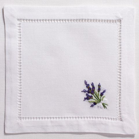 Lavender WildCocktail Set - White Cotton – Henry Handwork