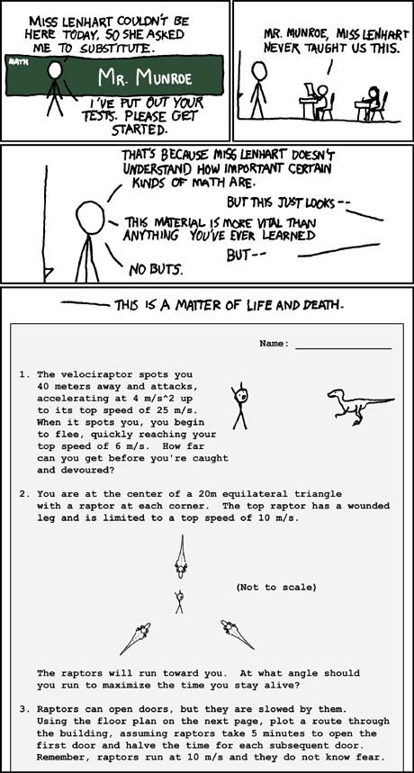 another velociraptor comic from xkcd