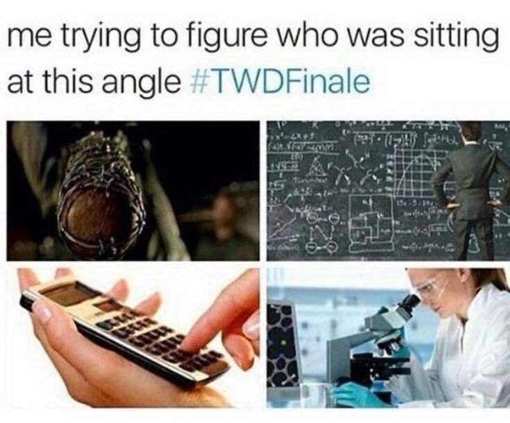Me trying to figure out who was sitting at this angle - Season 6B - Meme - Fangirl - The Walking Dead