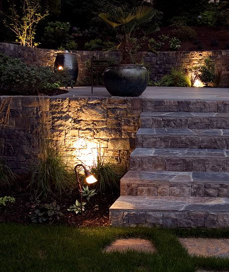 140 best landscape lighting images on pinterest decks backyard the addition of lighting to this portland landscape creates a whole new look for evening entertaining aloadofball Image collections