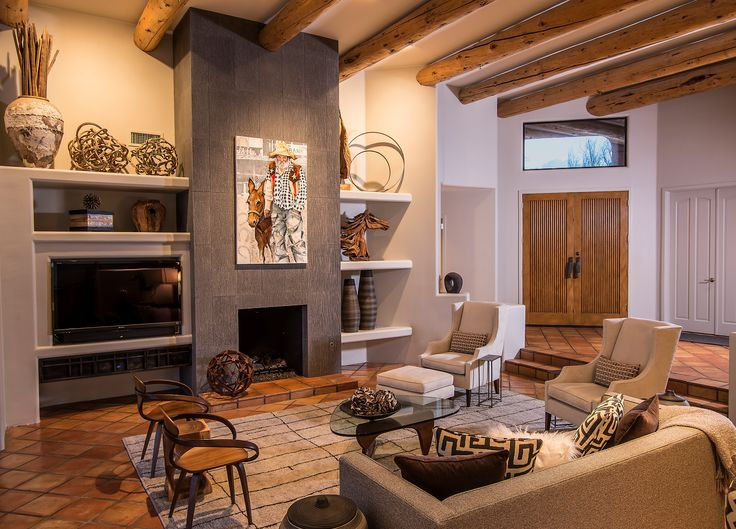 keeping the original flooring and timber wood beams southwest interior design in phoenix and scottsdale arizona