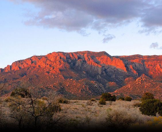 Sandia Mountain Sunset - this shows the watermelon color  (sandia means watermelon in Spanish)  Feeling watermelancholy and homesick