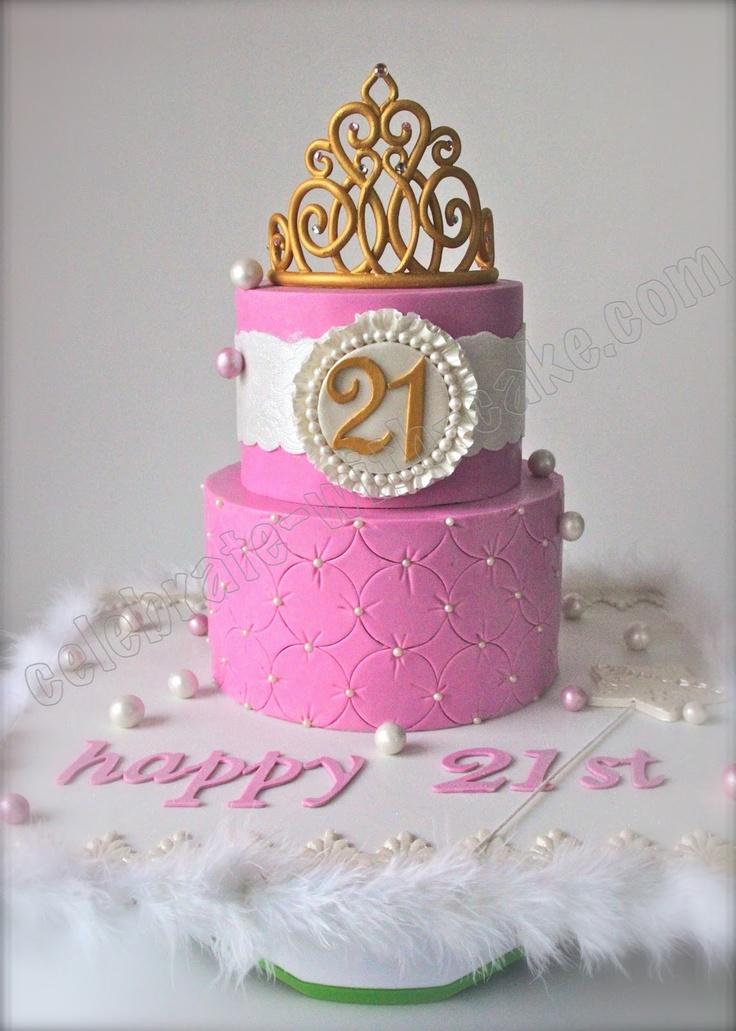 Celebrate With Cake Pink Princess Tiara Cake Cakes For