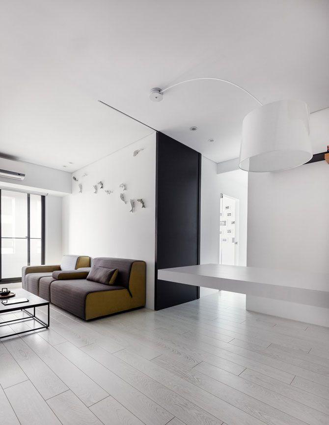 Apartament minimalist si minuscul in Taiwan | 4 din 9