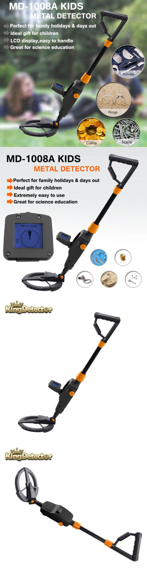 Metal Detectors: Metal Detector With Waterproof Search Coil Gold Digger Treasure Hunter For Kids BUY IT NOW ONLY: $31.99