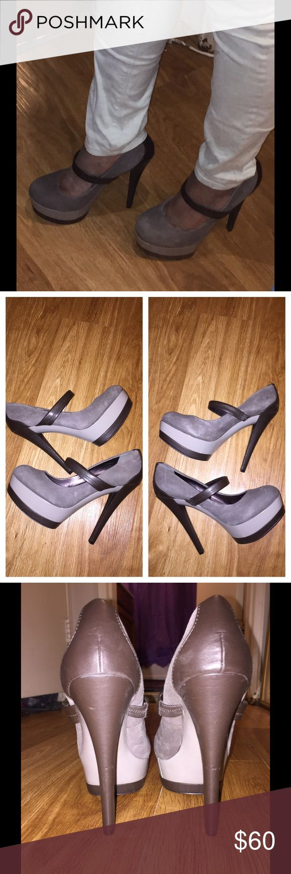 Jessica Simpson Mary Janes Cute heels for work or play. Heel height is 5.5 and platform is 1.75. Only worn once in an office setting. Jessica Simpson Shoes Heels