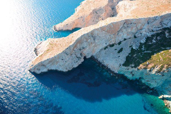 Crystal blue waters will take your breath away at #Folegandros !! #vacation #anemihotel #greekholidays #greece #islands