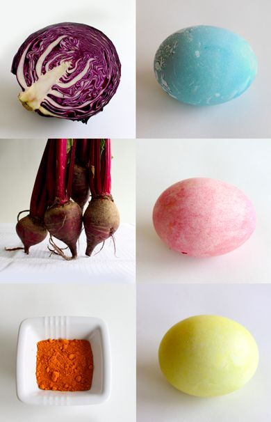 diy natural egg dyes #easter