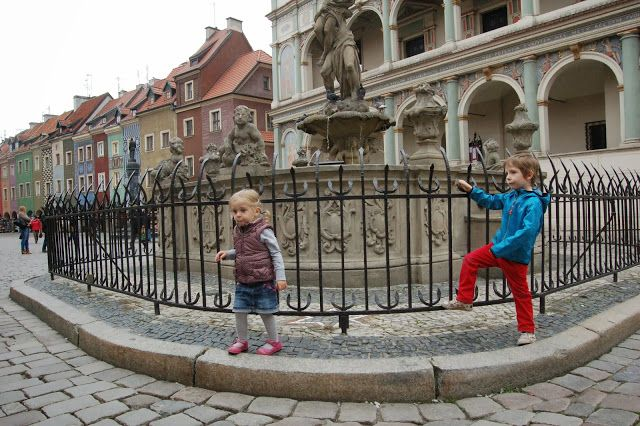 Proserpina fountain in front of the town hall in Poznan