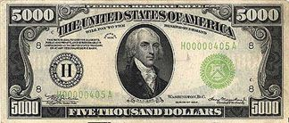 what president is on the 1000 dollar bill | Madison, our 4th President, appeared on the five-thousand dollar bill ...