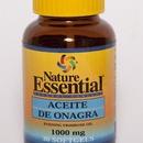 Aceite de onagra de 30 / 100 perlas de 1000 mg (10% GLA) Nature Essential $6.50  Destaca por su riqueza en ácidos grasos esenciales. El aceite de onagra contieneácido oleico, importante para la salud del corazón y de las arterias.