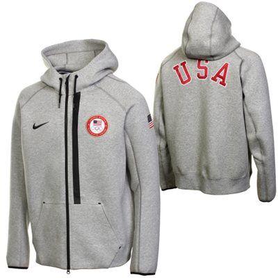 Nike USA Tech Full Zip Fleece Hoodie - Ash