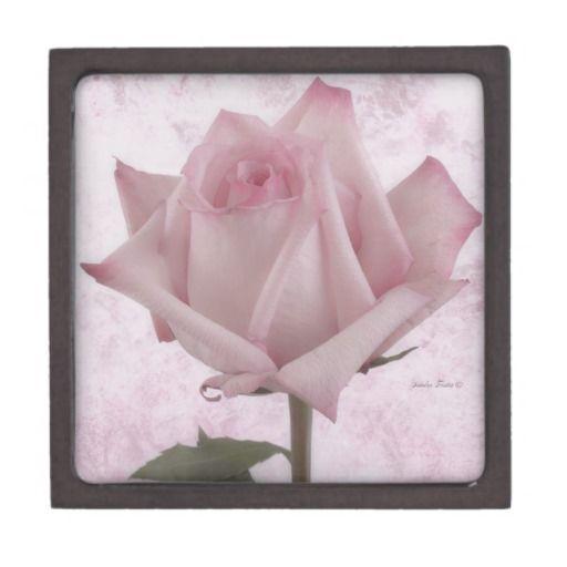 Soft Pink Rose Flower Premium Trinket Boxes