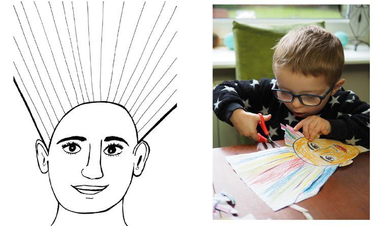 Szablon głowy do kolorowania i wycinania - Moje Dzieci Kreatywnie