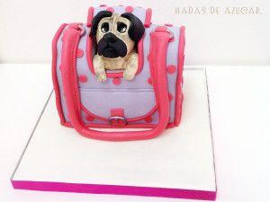 Tarta bolso perro  Hadas de Azúcar Guadalajara / Lovely puppy bag cake