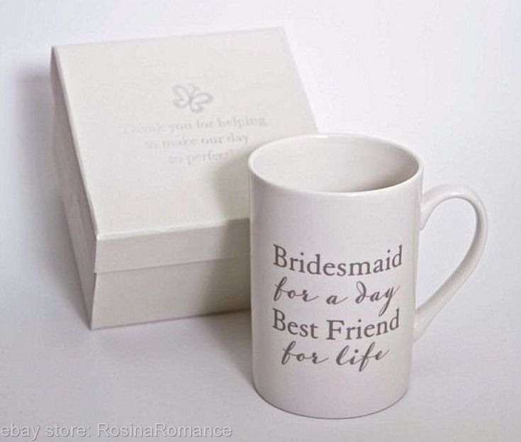 (£11.99 - FREE POSTAGE) The perfect gift for your life long best friend! #Bridesmaid #Gift #Keepsake #Cup #Mug #ThankYou #Present #Special #BestFriend #Wedding