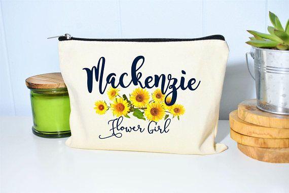 Flower Girl Gift Makeup Bag